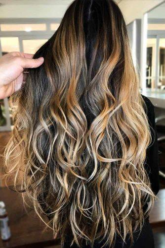 Long Layered Hair With A Drop Of Honey #balayagehair