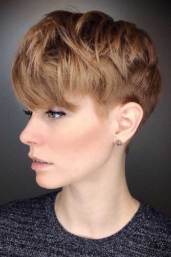 Long Layered Pixie To Look Younger #shorthaircuts#shorthairstyles #pixie
