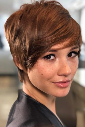 Long Pixie With Layered Bang #bangs #pixie