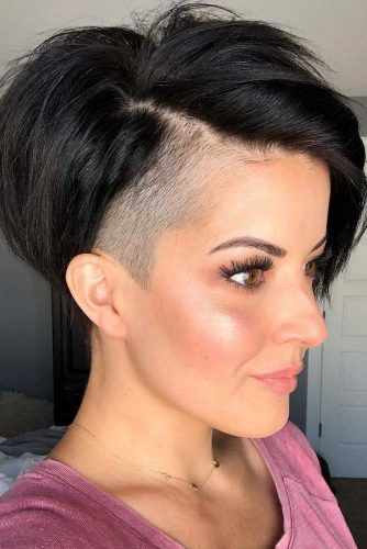 Long Pixie With Undercut #undercutpixie #pixiehaircut #undercut #haircuts