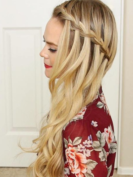 Long Waterfall Braids
