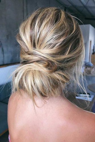 Low Messy Chignon Updo #updo #bun #thinhair