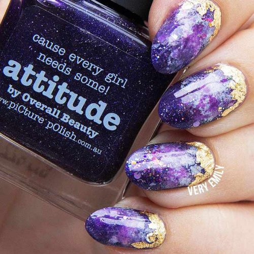 Magic Galaxy Nails Designs for Almond Nails Picture 1