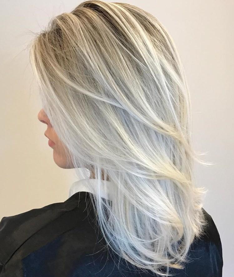 Layered V Cut Medium Hair Front View 60