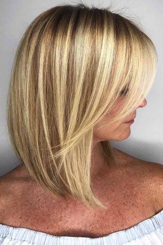 Medium Hair Length With A Side Bang #shoulderlengthhair #mediumhairstyles #hairstyles #straighthair #longbob