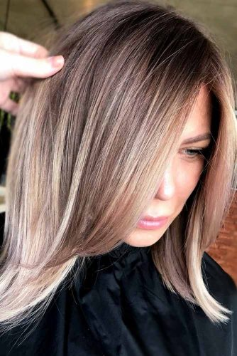 Medium Haircut Idea For Thin Hair #shoulderlengthhair #mediumhairstyles #hairstyles #straighthair #longbob