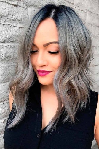 Medium Length Layered Lob #lobhaircuts #ashhairstyles