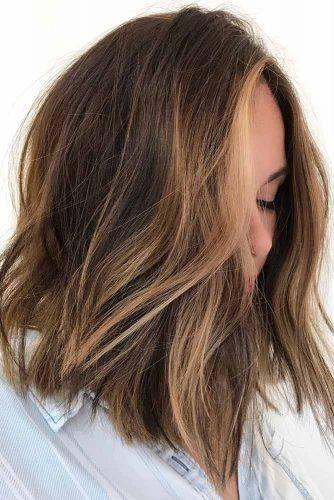 Medium Shaggy Hairstyles For Brunette Girls #mediumhair #bob