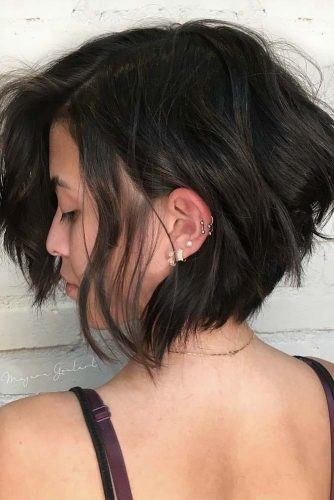 Messy Bob Hairstyles Black Color #shorthair #shorthairstyles #bobhairstyles #pixiehairstyles #blackcolor