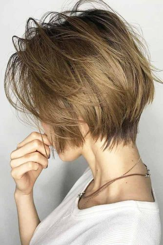 Messy Bob Hairstyles Dark Blonde Color Shorthair Hairs London