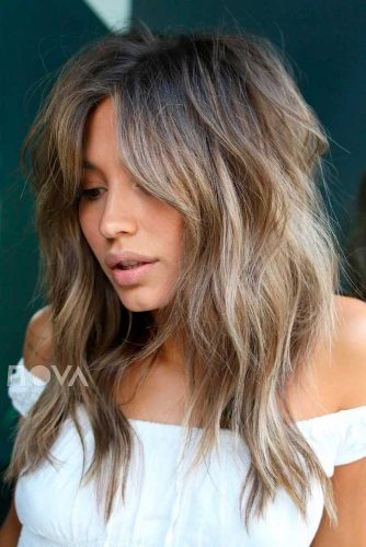 Messy Layered Hairstyle For Every Day #tousledhairstyle #ashbrownhair #layeredhair