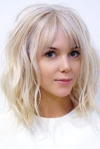Messy Medium Hair with Bangs picture 1