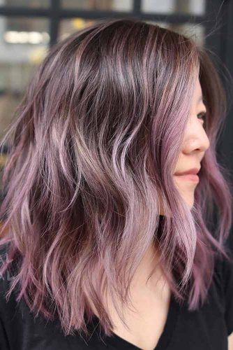 Messy Middle Parted Haircut #layeredhaircuts #layeredhair #haircuts