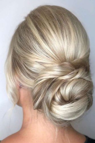 Messy Twisted Low Bun #bun #updo #thinhair