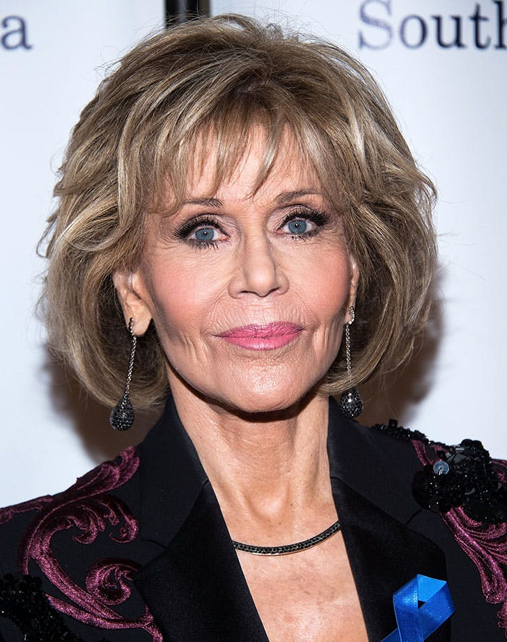 modern shag hair jane fonda