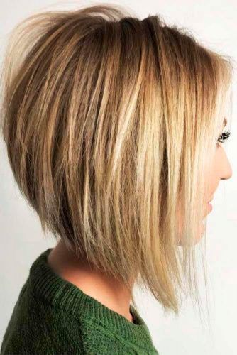 Natural Blonde Inverted Bob Hairstyles #blondehair #invertedbob