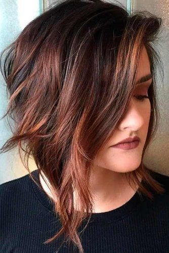 Natural Brown A-Line Bob #bobhairstyle #brownhair
