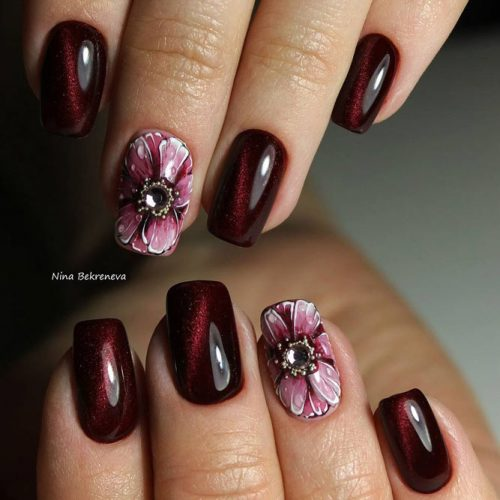 New Trendy Burgundy Nail Ideas picture 2