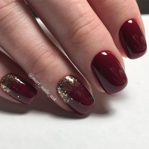 Newest Nail Designs in Burgundy Color picture 1