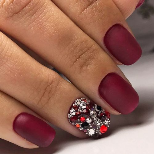 Newest Nail Designs in Burgundy Color picture 2