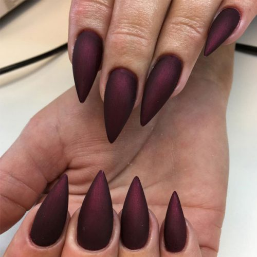 Newest Nail Designs in Burgundy Color picture 4