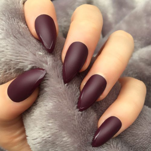 Newest Nail Designs in Burgundy Color picture 6