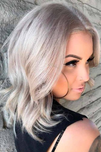 Perfect Medium Length Layered Haircuts #blondehairstyles #shoulderlengthhair
