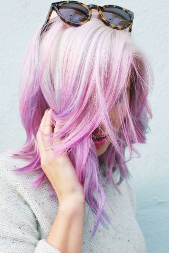 Pink and Platinum Blonde Ombre
