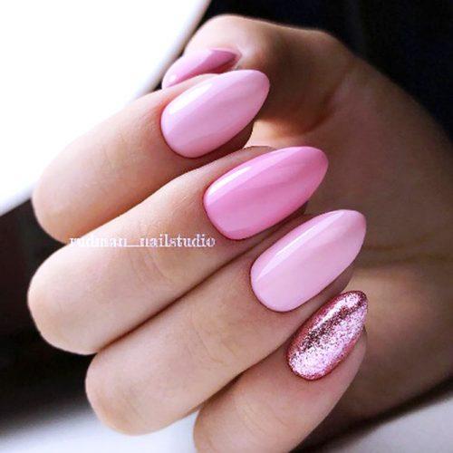 Pink Nails For Real Princesses #pinknails #glitternails