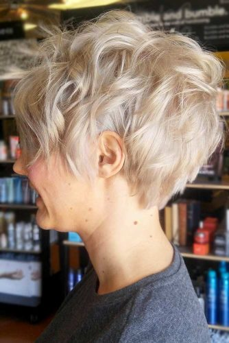 Pixie Cut For Your Short Wavy Hairstyles Blonde Color