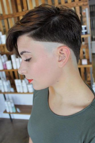 Pixie Cut With Shaved Side #undercutpixie #pixiehaircut #undercut #haircuts