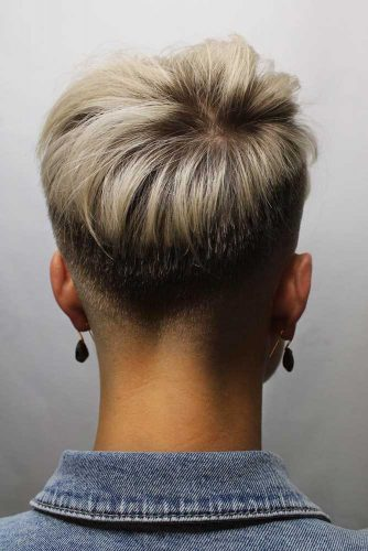 Pixie With Faded Back And Sides #shorthaircuts #shorthairstyles #pixiecut
