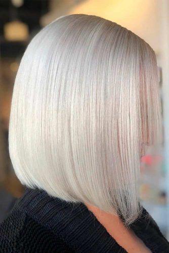 Platinum Blonde Blunt Bob #bluntbob #blondehair