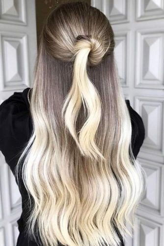 Platinum Blonde Ombre Hair #blondehair #brunette #ombre