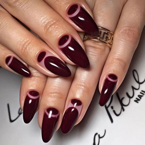 Popular Nail Designs in Burgundy Colors picture 3