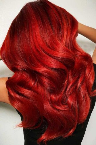 Ravishing Red Balayage