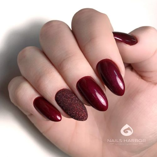 Red Acrylic Almond Nails Design For A Special Occasion #rednails
