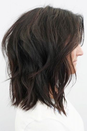 Shag Haircut For Thick Hair #shaghairstyles #shaghaircuts #mediumlength #hairstyles #brownhair