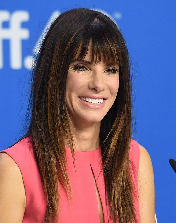 sharp layered hair sandra bullock