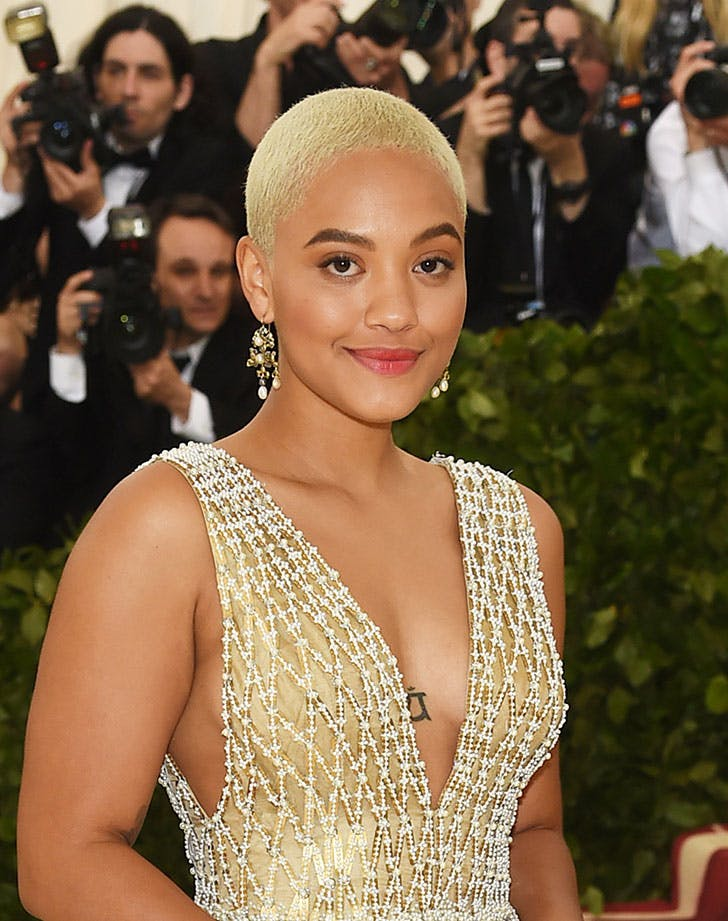 shaved hair amandla stenberg