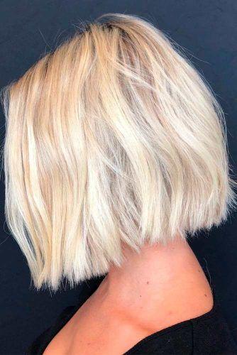 Short Blonde Blunt Sharp Bob Haircut #shorthair #blondehair #bluntbob