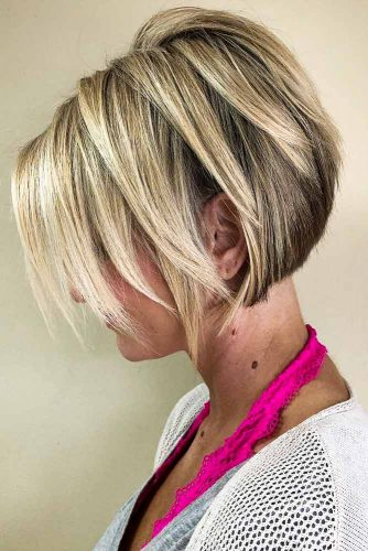 Short Blonde Bob With Layers #blondebob #shortbob #layeredbob