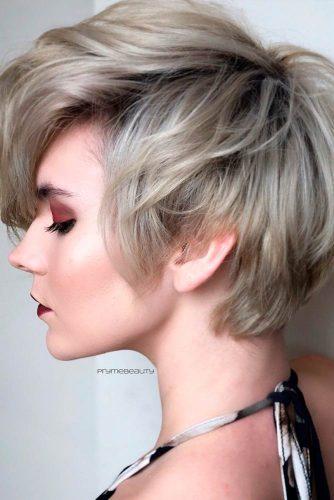 Short Funky Hairstyle #shorthair #funkyhairstyles