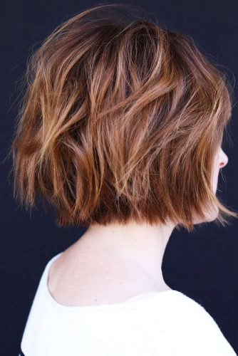 Short Shaggy Bob For Thin Locks #shorthair #bob #shaggy