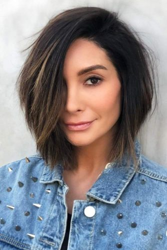 Short To Mid Length Hairstyles #mediumlengthhairstyles #mediumhair #hairstyles #longbob #blackhair