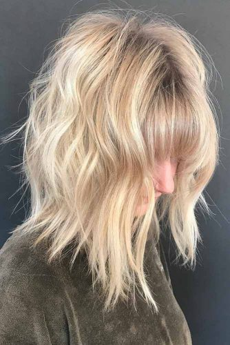 Shoulder Length Layered Haircut with Bangs picture2