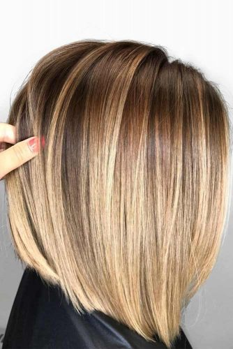 Shoulder Length Straight Hairstyles With Balayage