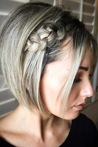 Side Cool Braids For Short Hair #shorthairstyles #shorthair #hairstyles #bobhairstyles #braids