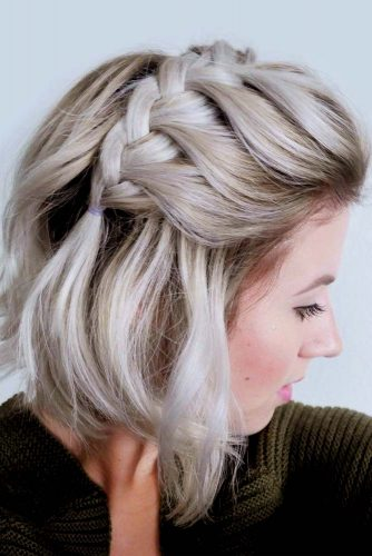 Side French Cool Braids For Short Hair #shorthairstyles #shorthair #hairstyles #bobhairstyles #braids