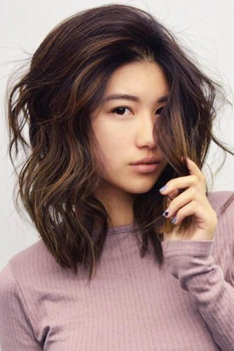 Side Part Hairstyle #messyhair #wavyhair #mediumhair